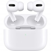 Casti Bluetooth Stereo Apple AirPods Pro, ANC, carcasa cu incarcare wireless, White